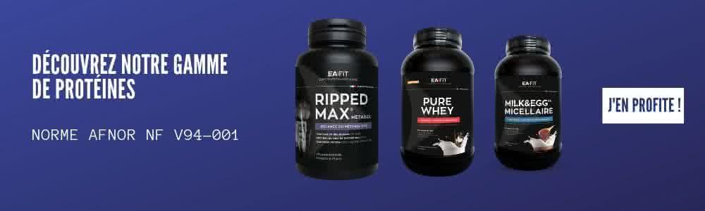 Découvrer la gamme protéines EAFIT